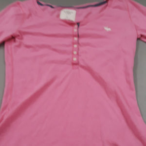 Abercrombie and Fitch pink bodycon henley